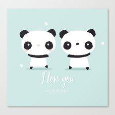Panda in love Canvas Print