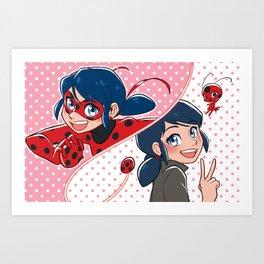 Ladybug Marinette Art Print