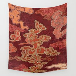 Crimson Clouds Wall Tapestry