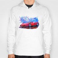 ferrari Hoodies featuring Ferrari Enzo by JT Digital Art