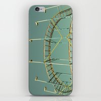 coasters iPhone & iPod Skins featuring rollercoaster by Bianca Green
