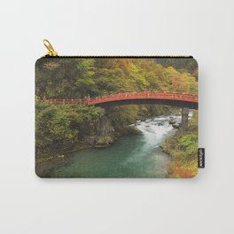 Shinkyo Bridge in Nikko, Japan in autumn Carry-All Pouch
