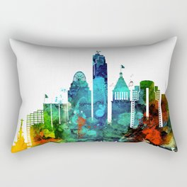 Colorful Cincinnati skyline Rectangular Pillow