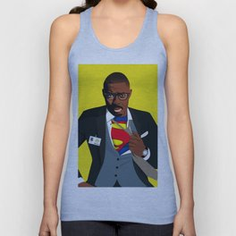 Superman with Swag Unisex Tank Top