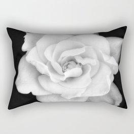 Gardenia Black and White Rectangular Pillow