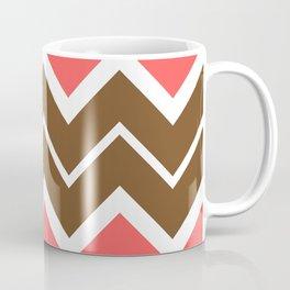 Big Chevron:  Chocolate Brown + Coral Coffee Mug