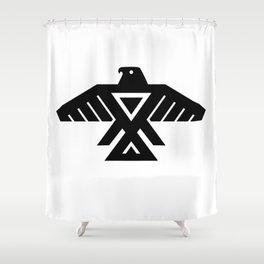 Thunderbird flag - Authentic Hi Def Shower Curtain