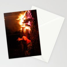 snow fire Stationery Cards