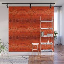 Rustic Orange Geometric Southwestern Pattern - Luxury - Comforter - Bedding - Throw Pillows - Rugs Wall Mural