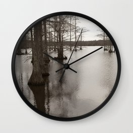 Cypress of the swamp Wall Clock