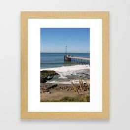 Carpinteria Pier Framed Art Print