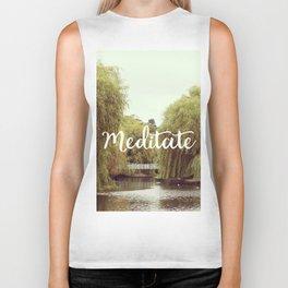 Meditate in the park Biker Tank