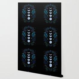 Moonlight Garden - Blue Wallpaper