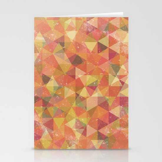 Triangle Pattern III Stationery Cards
