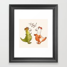 No Way! Framed Art Print