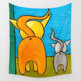 Kitty Butties Wall Tapestry