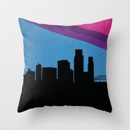 Corpus Christi Skyline Throw Pillow