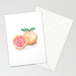 Watercolour Grapefruit Stationery Cards