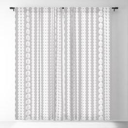 Bridal Pearls Grey & White Blackout Curtain