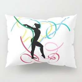 Ribbon dancer on white Pillow Sham