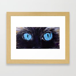 Sass: The Eyes of a Long-Haired Cat Framed Art Print