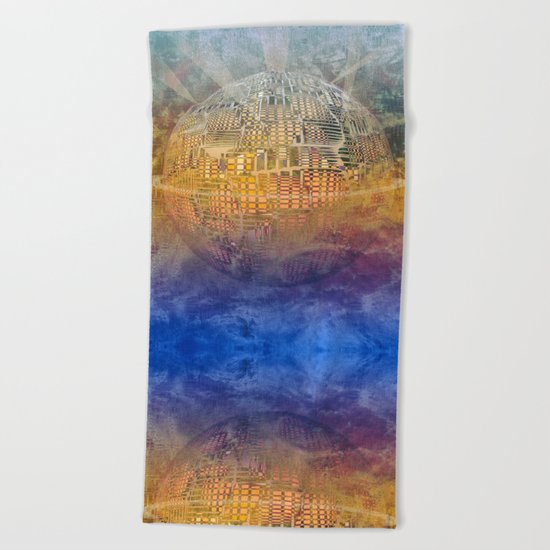 Atlante 11-06-16 / SUBAQUATIC - AERIAL Beach Towel