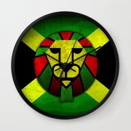 Rasta Lion. Wall Clock