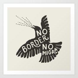 No Border No Migra Art Print
