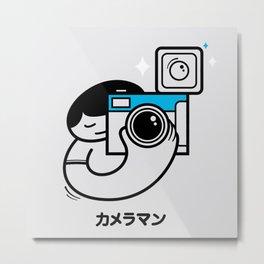 Cameraman カメラマン Metal Print