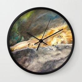 The Lion Sleeps Wall Clock