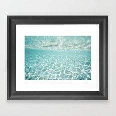 Under Water Light Framed Art Print