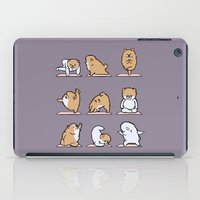 pomeranian iPad Cases featuring Pomeranian yoga by Huebucket