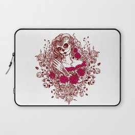 Sexy Woman zombie WITH Flower - Razzmatazz Laptop Sleeve
