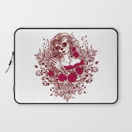 Sexy Woman zombie WITH Flower - Razzmatazz Laptop Sleeve
