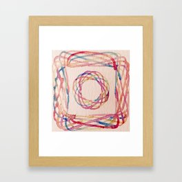 Spirograph watercolor print Framed Art Print