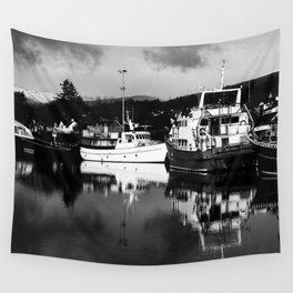Boats on the Canal Wall Tapestry