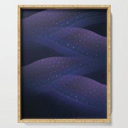 Ultraviolet Cosmos Serving Tray