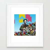 rave Framed Art Prints featuring RAVE by DIVIDUS