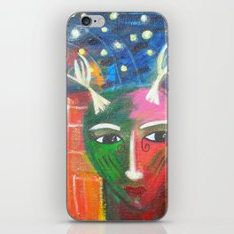 She Lives in a Time of Her Own iPhone Skin