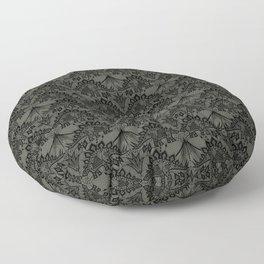 Stegosaurus Lace - Black / Grey Floor Pillow
