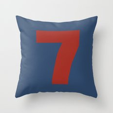 Number 7 Throw Pillow