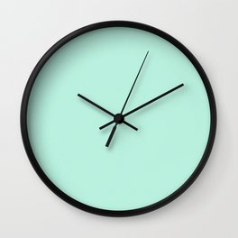 Crazy about dots teal with purple Wall Clock