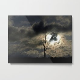 time for a lonely tree photo Metal Print