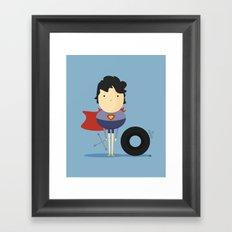 My Super hero! Framed Art Print