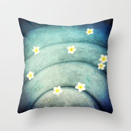 Pool Lilies  Throw Pillow