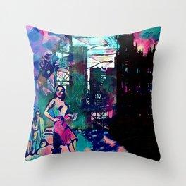 Dame From Buxom Street Throw Pillow