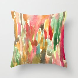 Watercolor Jungle Throw Pillow