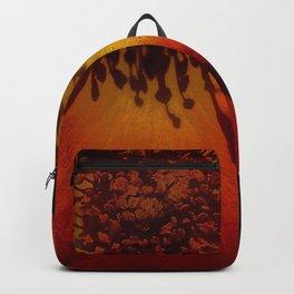 Tawny Autumn Roses Backpack