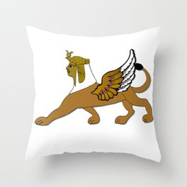 Sphinx winged, Egyptians, antiquity, fantasy creatures Throw Pillow