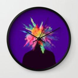 Colour Burst Head Imagination Colour Creativity Wall Clock